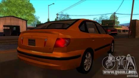 Hyundai Elantra para la visión correcta GTA San Andreas