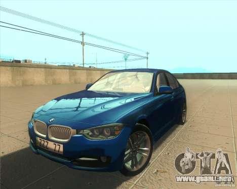 BMW 3 Series F30 2012 para GTA San Andreas interior
