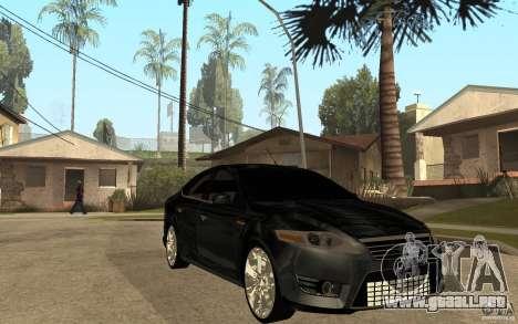 Ford Mondeo 2009 para GTA San Andreas vista hacia atrás