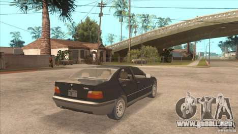 BMW 316i E36 para GTA San Andreas vista posterior izquierda