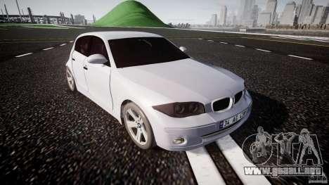 BMW 118i para GTA 4 vista interior