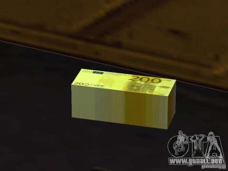 Euro money mod v 1.5 200 euros para GTA San Andreas