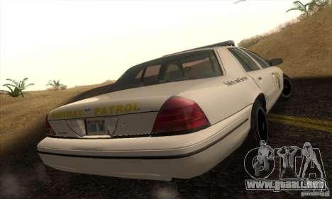 Ford Crown Victoria California Police para GTA San Andreas left