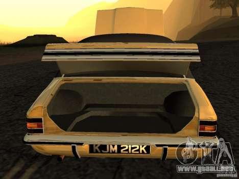 Ford Cortina MK 3 Life On Mars para la visión correcta GTA San Andreas