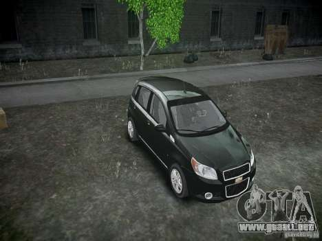 Chevrolet Aveo LT 2009 para GTA 4 vista lateral