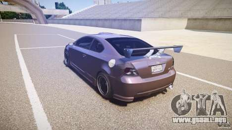 Toyota Scion TC 2.4 Tuning Edition para GTA 4 Vista posterior izquierda