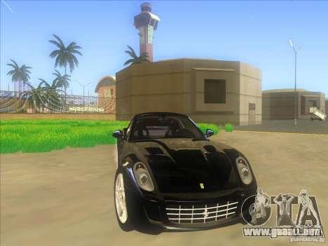Ferrari 599 GTB Fiorano para vista lateral GTA San Andreas