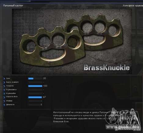 [Point Blank] Brass Knuckles para GTA San Andreas segunda pantalla