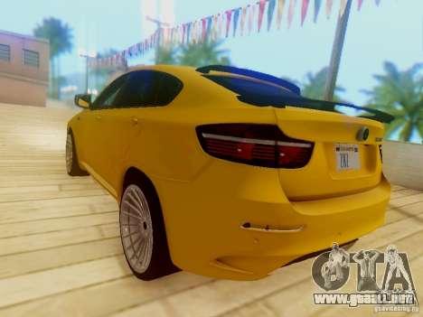 BMW X6 Hamann para la vista superior GTA San Andreas