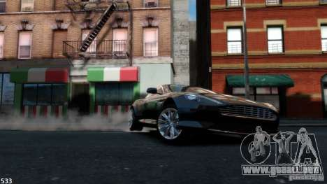 Aston Martin Virage 2012 v1.0 para GTA 4 vista interior