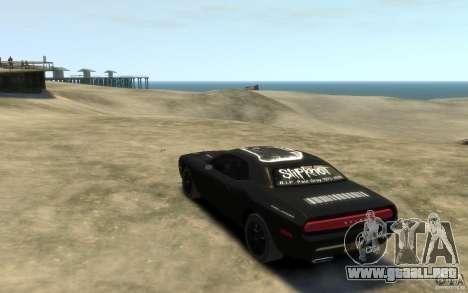 Dodge Challenger Concept Slipknot Edition para GTA 4 Vista posterior izquierda