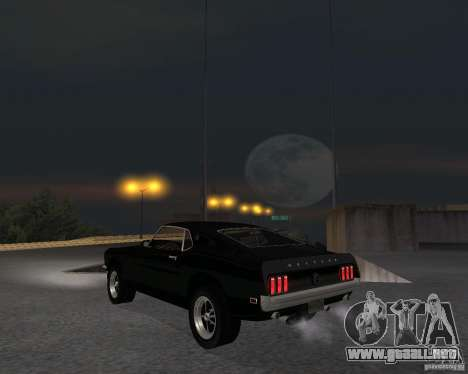 Ford Mustang Boss 1969 para la visión correcta GTA San Andreas