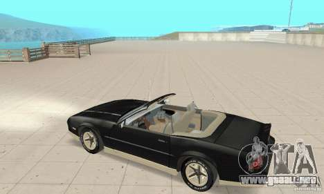 Chevrolet Camaro RS 1991 Convertible para GTA San Andreas vista hacia atrás