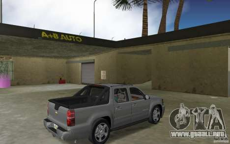 Chevrolet Avalanche 2007 para GTA Vice City visión correcta