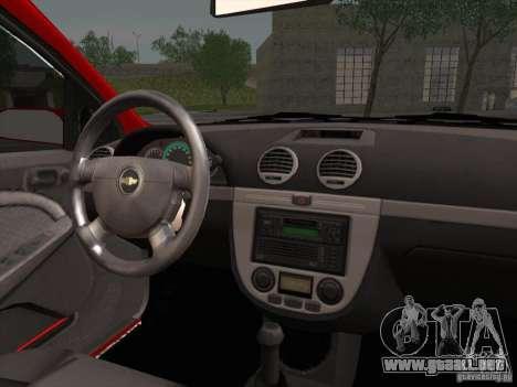 Chevrolet Lacetti para la visión correcta GTA San Andreas