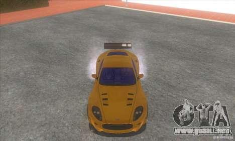 Aston Martin DB9 MW para GTA San Andreas vista hacia atrás