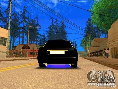 LADA Priora oro 2170 Edition para GTA San Andreas vista hacia atrás