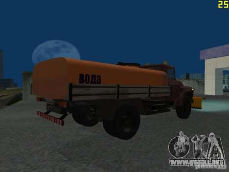 Ko-829 en beta chasis de camión ZIL-130 para GTA San Andreas vista hacia atrás