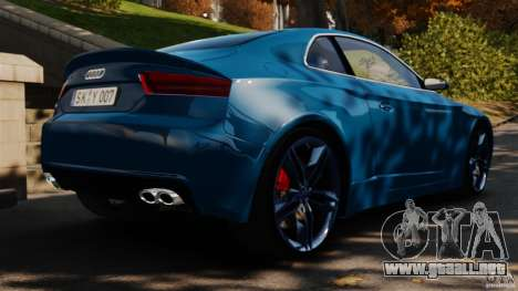 Audi S5 Conceptcar para GTA 4 Vista posterior izquierda