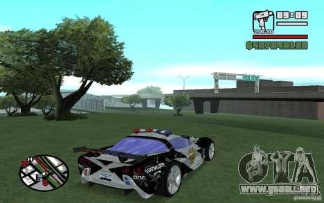 Cross Corvette C6R inglés para la visión correcta GTA San Andreas