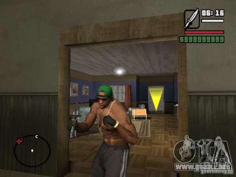 Guantes sin dedos para GTA San Andreas segunda pantalla