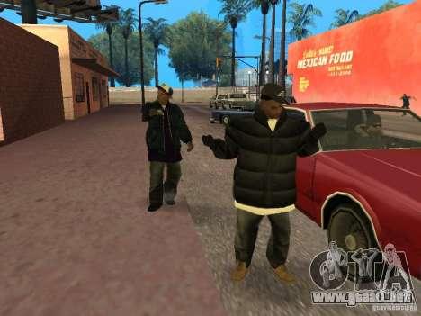 Ropa de invierno para Ballas para GTA San Andreas tercera pantalla