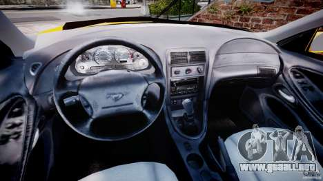 Ford Mustang SVT Cobra v1.0 para GTA 4 vista hacia atrás
