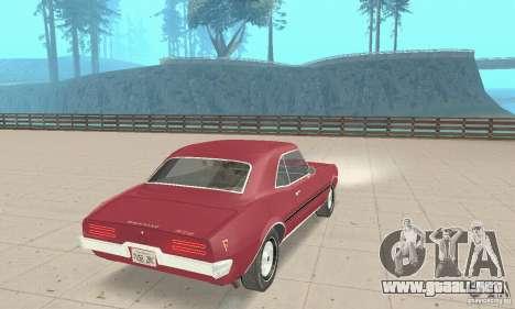 Pontiac Firebird 1968 para GTA San Andreas left