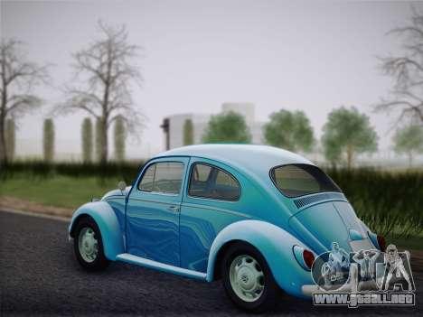 Volkswagen Beetle 1967 V.1 para GTA San Andreas vista posterior izquierda