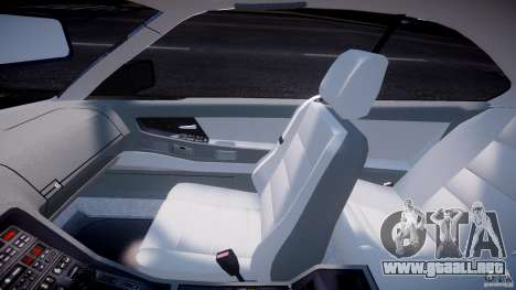 BMW 850i E31 1989-1994 para GTA 4 vista hacia atrás