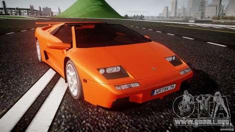 Lamborghini Diablo 6.0 VT para GTA 4 vista hacia atrás