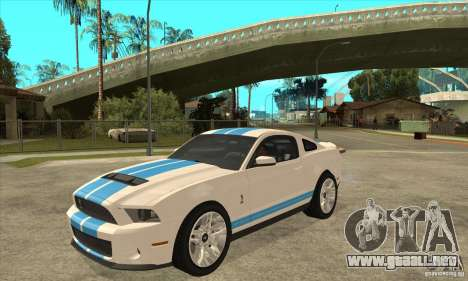 Ford Mustang Shelby GT500 2011 para GTA San Andreas left