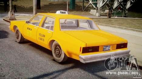 Chevrolet Impala Taxi v2.0 para GTA 4 visión correcta
