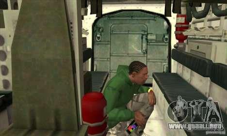 Stryker para la vista superior GTA San Andreas
