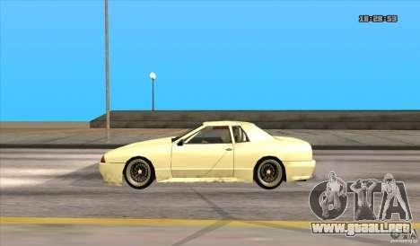 Elegy Drift Style para GTA San Andreas vista posterior izquierda