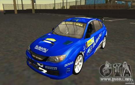 Nuevos vinilos para Subaru Impreza WRX STi para GTA San Andreas interior