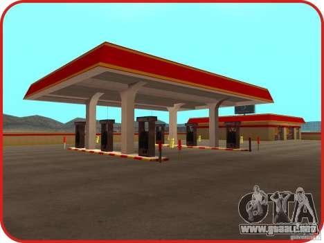 Nueva estación de servicio Shell para GTA San Andreas segunda pantalla