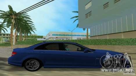 Mercedes-Benz C63 AMG 2010 para GTA Vice City visión correcta