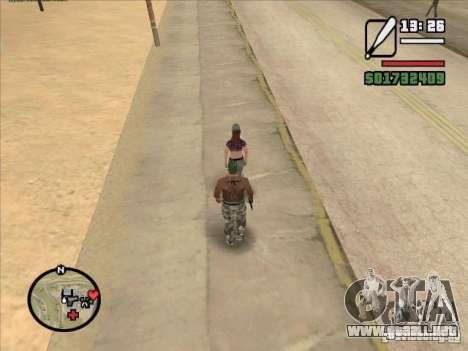Romper la columna vertebral de un murciélago para GTA San Andreas segunda pantalla