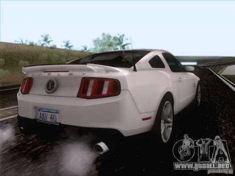 Ford Shelby Mustang GT500 2010 para la visión correcta GTA San Andreas