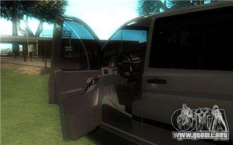Mercedes-Benz Vito 2007 para la visión correcta GTA San Andreas