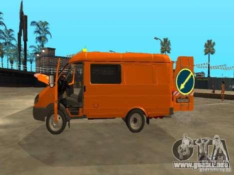 Patrulla gacela 2705 para visión interna GTA San Andreas
