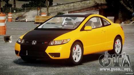 Honda Civic Si Coupe 2006 v1.0 para GTA 4 vista interior