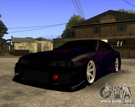 Elegy 0.2 para GTA San Andreas vista posterior izquierda