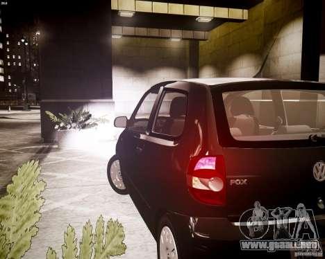 Volkswagen Fox 2011 para GTA 4 vista hacia atrás