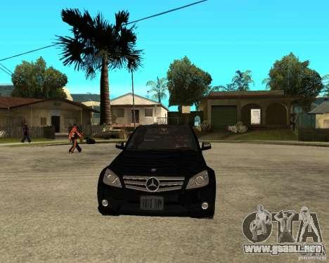 Mercedes Benz C350 W204 Avantgarde para GTA San Andreas vista hacia atrás