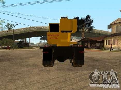 Camión KrAZ para GTA San Andreas vista posterior izquierda
