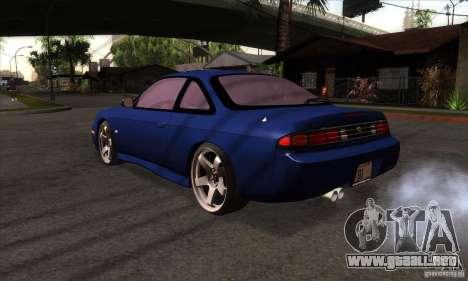 Nissan 200SX para GTA San Andreas vista posterior izquierda