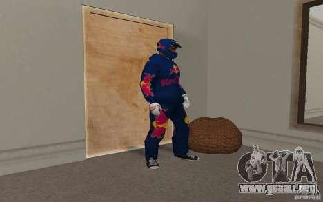 Red Bull Clothes v2.0 para GTA San Andreas sucesivamente de pantalla