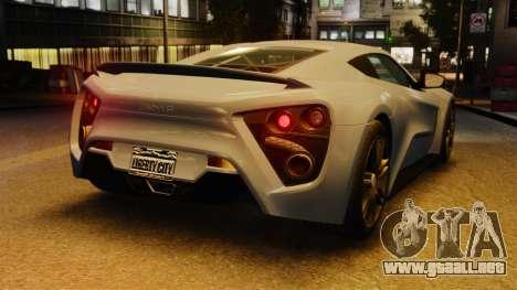 Zenvo ST1 para GTA 4 vista hacia atrás